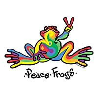Enjoy It Peace Frogs Multi-Color Peace Frogs Car Sticker, Outdoor Rated Vinyl Sticker Decal for Windows, Bumpers, Laptops or Crafts, 2 Pieces
