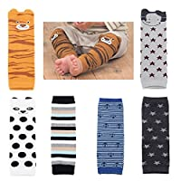 Baby Toddler Cozy Soft Cotton Leg Warmers Boys Girls Kneepads Knee Warmers Pa...