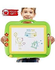 U-HOME zaubertafeln für Kinder, Kinder zaubertafel Große Doodle Board Pad Bunt Zeichenbrett mit 3 Magnetische Stempel für Kinder 3 4 5 Jahre Alt