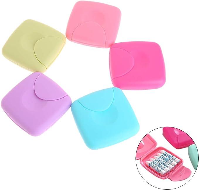 Cuigu - Caja de almacenamiento portátil para servilletas higiénicas para mujer, portacaramelos, color