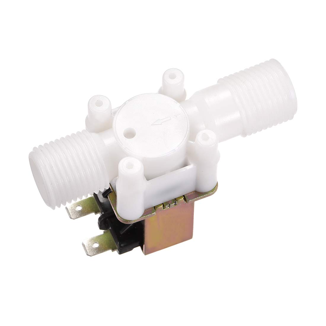 uxcell DC12V G1//2 Plastic Water Electric Solenoid Valve Normally Open N//O Pressure Water Inlet Flow Switch