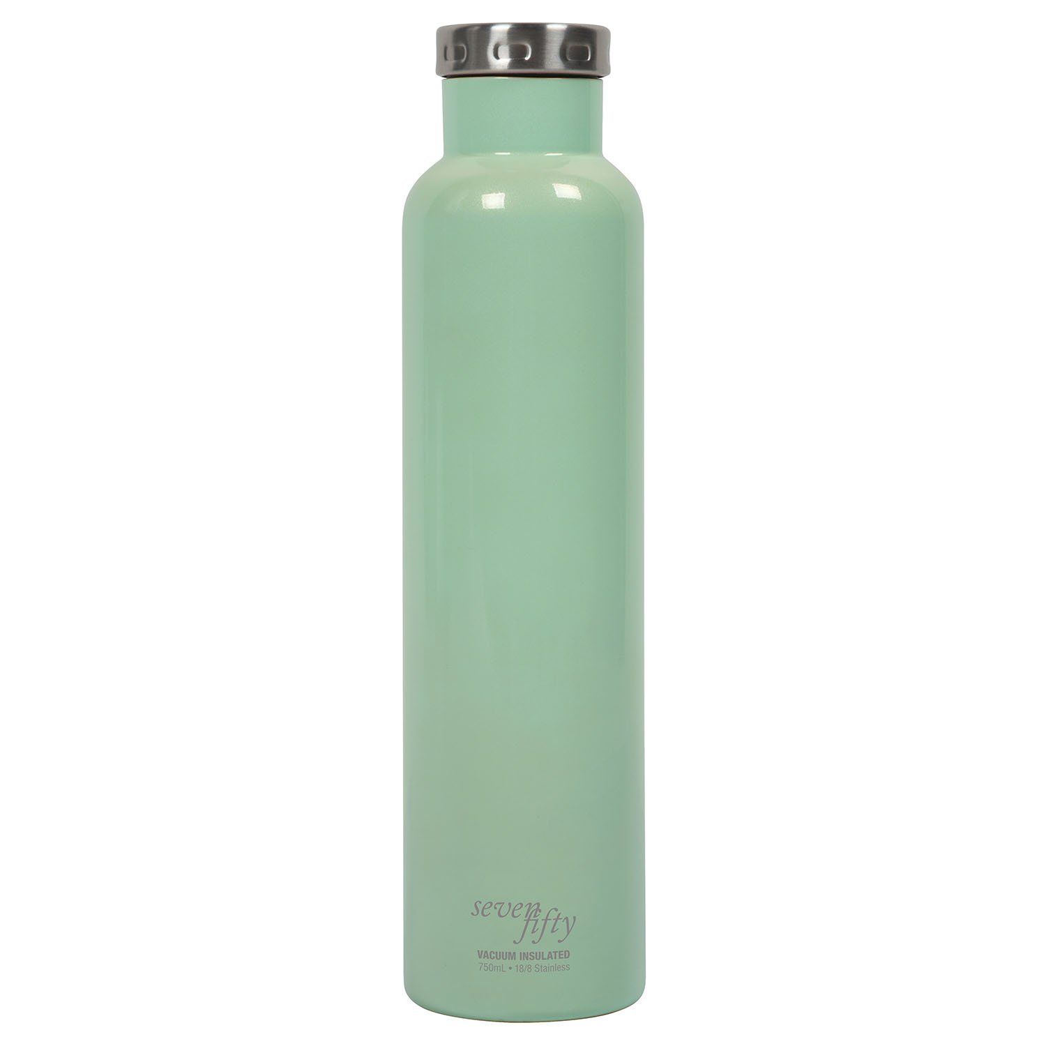 Fifty/Fifty Seven Fifty Double Wall Vacuum Insulated Wine Growler, 18/8 Stainless Steel, 750ml, Cool Mint