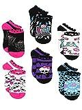 monster feet socks - Monster High Girls 6 pack Socks (6-8 Girls (Shoe: 10.5-4), Ghoul Squad Black/Multi)