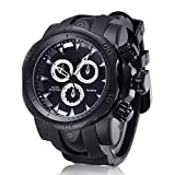 JIANGYUYAN Mens Unique Fashion Casual Business watches Analog Quartz Waterproof Sport Large Dial Big Silicone Band Wrist Watch for men