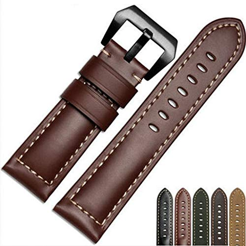 Brown Frontier Leather Harness - 2019 Great Best Gift !!! Cathy Clara Replacement Luxury Leather Band Strap for Garmin Fenix 5X GPS Watch,Band Easy Fit 26MM Width Soft Silicone Watch Strap Replacement for Garmin Fenix 5X