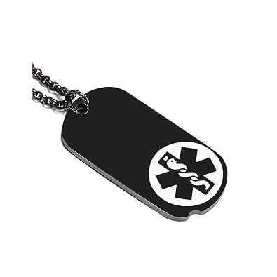 Amazon com: BBX JEWELRY Stainless Steel Notch Black Medical