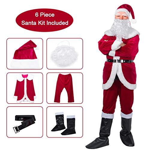 SOMOYA Christmas Santa Claus Costume Santa Suit Adults Men Santa Costume Christmas Costumes ()