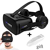 3D VR Headset/Glasses, TSANGLIGHT 3D VR Virtual Reality Headset with Remote and Headphones for 3D Movies/Games [Updated Version VR Goggles] for 4.0-6.0'' Android/IOS Cellphones Samsung/iPhone &Others