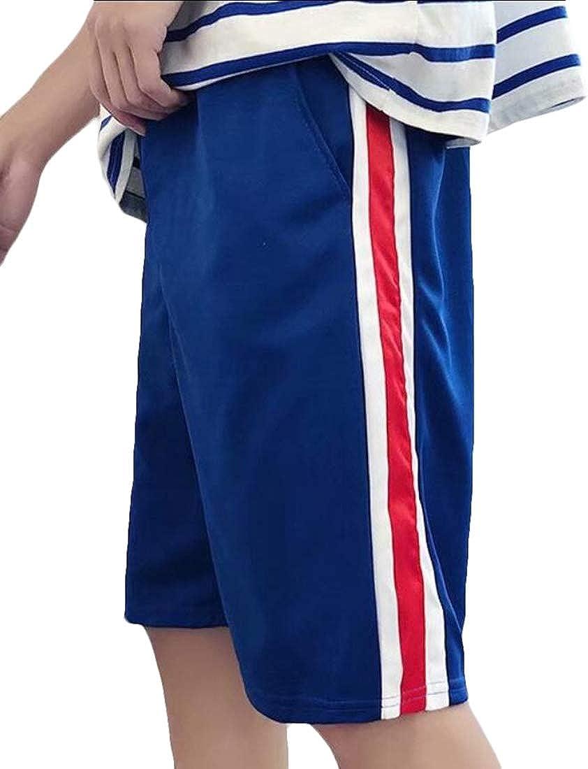 GAGA Mens Shorts Athletic Workout Running Striped Loose Board Shorts