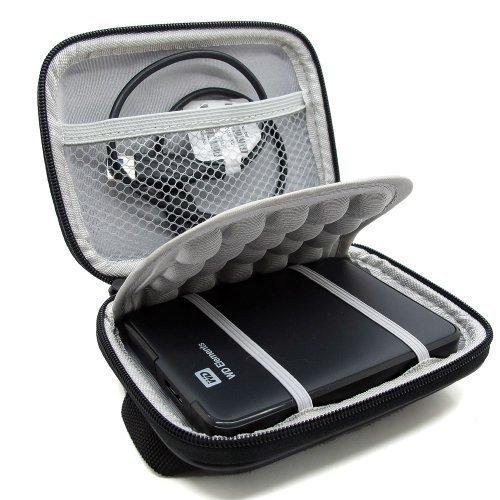 Co2Crea Hard EVA Shockproof Carrying Case Pouch Bag for Western Digital, Ultra Slim Essential Elements, Canvio