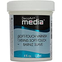 Deco Art Media Soft Touch Varnish, 4-Ounce