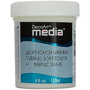 Deco Art Media Soft Touch Varnish, 4-Ounce