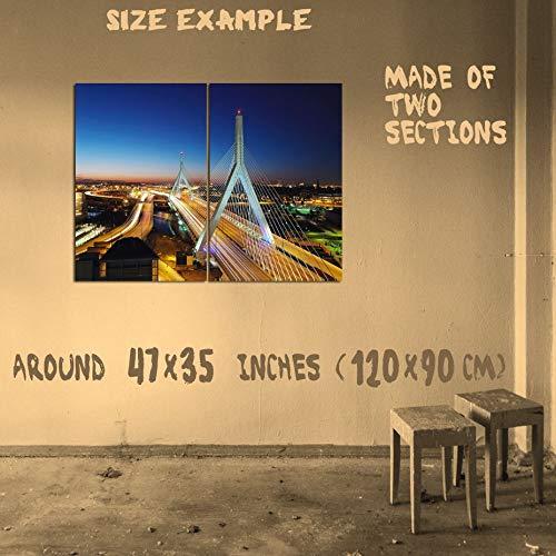 USWay 186361 ZAKIM Bunker Hill Memorial Bridge Boston Mass Decor Wall 47x35 Huge Giant Poster Print