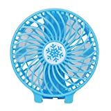 AMA(TM)® Handhold Misting Battery Operated Fold-able Black Kids Air Cooler Portable USB Rechargeable Clip Large Mini Fan Small Ice Conditioner (Blue)