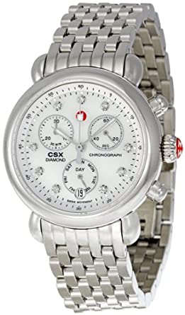 7345688b4 Image Unavailable. Image not available for. Color: Michele CSX Mother of Pearl  Diamond Dial Chronograph Ladies Watch MWW03M000120
