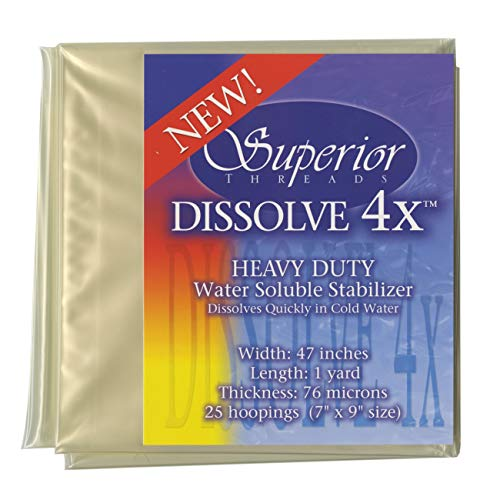 Superior Threads 4X Dissolve Stabilizer Heavy Duty Water Soluble, 200 yd