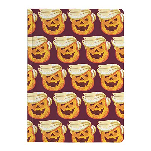 Trump Funny Halloween Pumpkin Costume Paperback Journal Diary Composition Notebook, Halloween Costume, Small 5.75