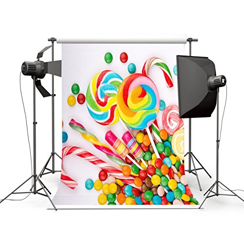 3x5FT Colorful Sweet Candys Photography Backdrop Customized CP Photo Background Studio Prop (Candy Props)