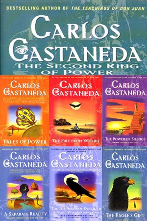 Carlos Castaneda 4 Volume Book Set (The Teachings of Don Juan; A Seperate Reality; Journey to Ixtlan; Tales of Power)