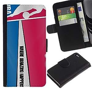 Stuss Case / Funda Carcasa PU de Cuero - Modelo del baloncesto - Apple Iphone 4 / 4S