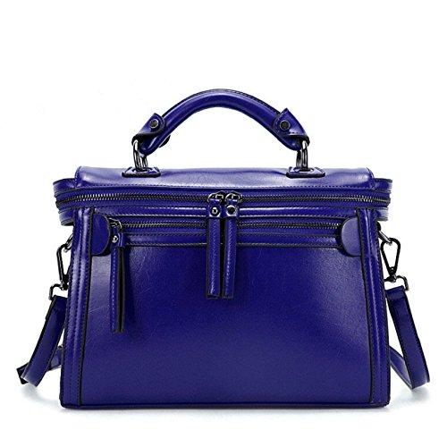 Towallmark(TM)Occident Trend Fashion Ladies Women Leather Handbag Shoulder Diagonal Bag (Blue)