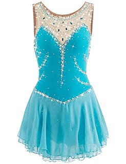 5b926529c639 Skating Queen Figure Skating Dress for Girls Women Ice Skating Performance  Competition Dress Spandex Elastic Quick