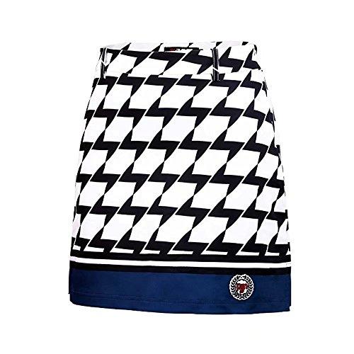 Kayiyasu ゴルフスカート 見せパン付き ゴルフウェア レディース スポーツドレス 女性用 ミニスカート ストレッチ アウトドア 021-xsty-qz021(M ネイビー)