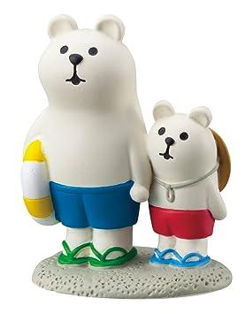 Figura oso polar crema lindo con osito y flotador de Japón: Amazon.es: Juguetes y juegos
