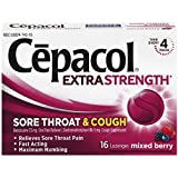 Cepacol Maximum Strength Throat and Cough Drop Lozenges, Mixed Berry, 16 Count (Pack of 5)