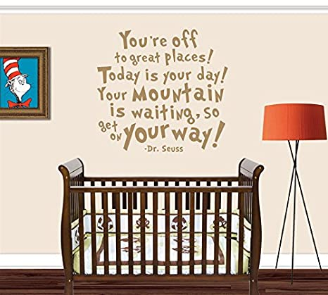 Dr Seuss Wall Decals You\'re Off To Great Places for Kids Room Decor ...