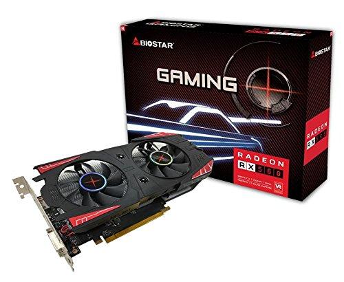 Biostar Radeon RX 560 4GB DDR5 DirectX 12 Elpidia Ram HDMI / DVI-D / DP PCI-E Graphics Card...