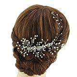 azaleas Wedding Haipiece Hairband Hair Pin Accessory Bridal Hair Vine Ribbon Headband (HP15-Silver)