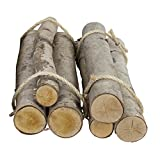 Walnut Hollow Value Pack 6 Pieces Rustic Birch Logs for Home Decorating and Weddings