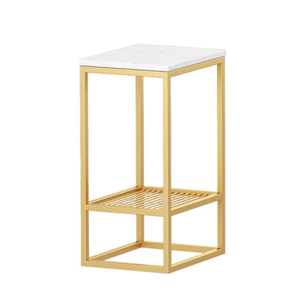 C-J-Xin ベッドサイドテーブル、ゴールドアイアンアート大理石卓上装飾寝室リビングルームティーテーブルソファサイドバルコニーレストランコーヒーテーブル スペースを節約 (サイズ さいず : 30*50*60CM) B07PJ3HFSR  30*50*60CM