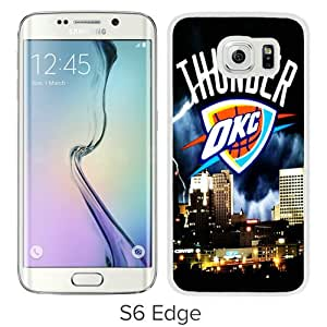 Popular Samsung Galaxy S6 Edge Case ,Beautiful And Unique Designed With okc thunder White Samsung Galaxy S6 Edge Cover