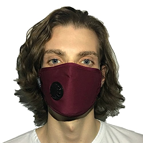 Anti Pollution Mask by Mask Majors | Anti-Dust, N99 Filter Air Respirator, Washable and Reusable, One Size