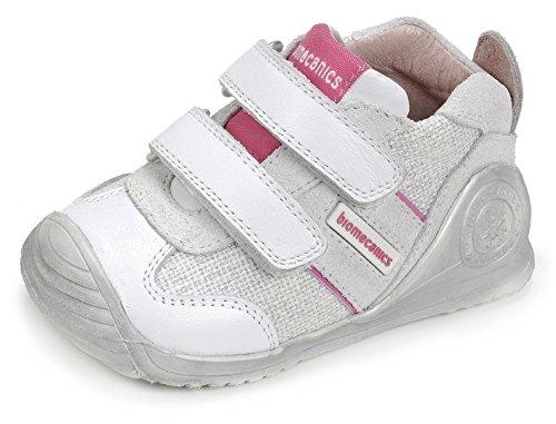 Biomecanics Babys/Mädchen 172138 Lauflernschuhe, Weiß (White), 19 EU