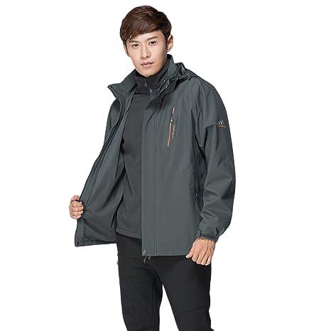 b57dd2431 Dnstar Mens 3 in 1 Jacket Waterproof Winter Coats for Men Big and ...