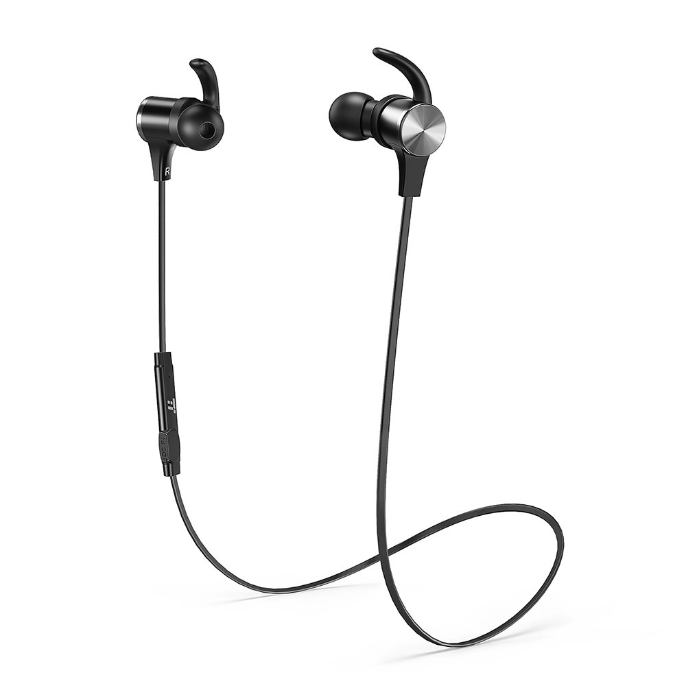 Bluetooth Headphones TaoTronics Wireless 4.2 Magnetic Earbuds Snug Fit for Sports with Built in Mic TT-BH07 (IPX6 Waterproof, aptX Stereo, 9 Hours Playtime) - Upgraded Version by TaoTronics