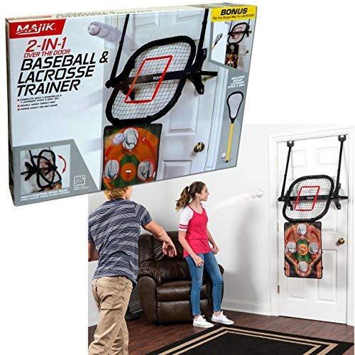 Majik Over the Door 2 in 1 Baseball & Lacrosse Trainer Training Indoor Game Sports Toys WLM8 1-1-28739-DS – DiZiSports Store