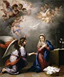 The High Quality Polyster Canvas Of Oil Painting 'Murillo Bartolome Esteban The Annunciation Ca. 1660 ' ,size: 10 X 12 Inch / 25 X 31 Cm ,this Best Price Art Decorative Prints On Canvas Is Fit For Game Room Gallery Art And Home Decor And Gifts
