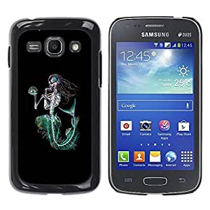 Paccase / SLIM PC / Aliminium Casa Carcasa Funda Case Cover - Mermaid Death Skeleton Black Green - Samsung Galaxy Ace 3 GT-S7270 GT-S7275 GT-S7272