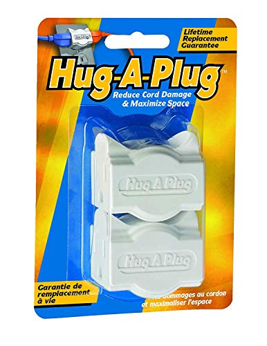 (Hug-A-Plug - Dual Outlet Wall Adapter, Twin Pack White)