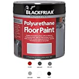 Professional Polyurethane Floor Paint BLACK 500ml by Blackfriar