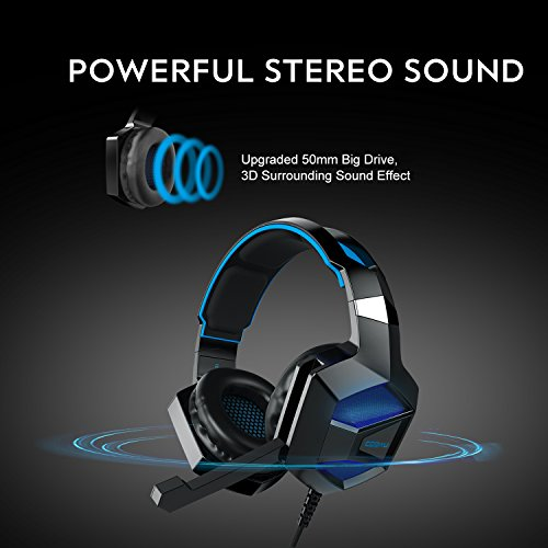 COOAU CU002 Stereo Gaming Headset with Mic, LED Lights