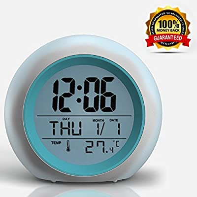 2018 Newest Upgraded Alarm Clock - Premium Digital Display Model for Adults, Kids & Teens - Today Get 100% - Clocks for Home and Travel, Work for Heavy Sleepers - Limited Edition