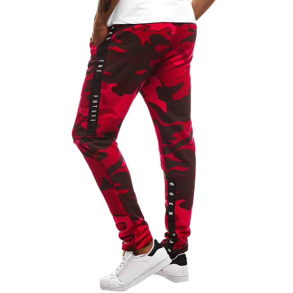 ZODOF Moda Hombres Sueltos Pantalones para Oto/ño Invierno de Bolsillo Joggers Ocasionales Deportes de Pantalones ch/ándal c/ómodos Holgados