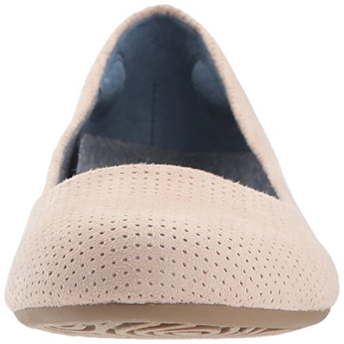Dr Women's perforated blush microfiber Friendly2 Flat Scholl's Ballet Shoes OrRxwqUO7F