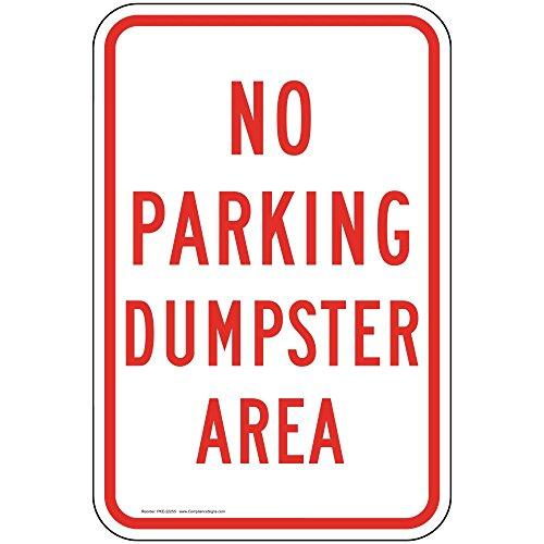 ComplianceSigns Aluminum Parking Control Sign, Reflective 18 x 12 in. with Parking Not Allowed info in English, ()