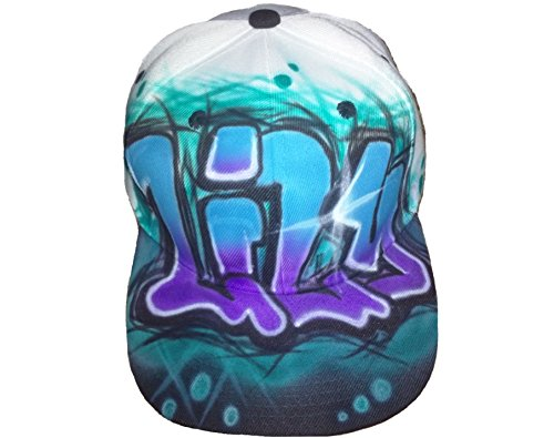 [Airbrushed GRAFFITI Hat Design] (Airbrushed Trucker Hat)